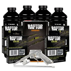 U Pol 821 4856 Basalt Gray 4l Spray On Raptor Truck Bed Liner Kit W Gun