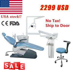 Usa Dental Chair Unit Computer Controlled 110v Doctor Mobile Stool Sky Blue