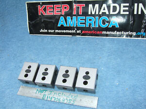 Moore Tool Co Blocks 4 Blocks Parallels Toolmaker Machinist Inspection Qa