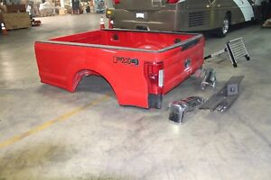 2017 Ford Super Duty F250 F350 8 Red Truck Box Electric Tailgate Back Up Camera