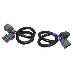 2pcs Up downstream O2 Oxygen Sensor Extension Harness 4 Wire Cable Universal New