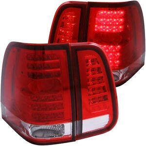 Fits 03 06 Lincoln Navigator Tail Lights Left Right Pair W Red Clear Lens