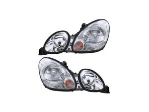98 05 Fits Lexus Gs300 400 430 Halogen Headlights Headlamps Pair Set