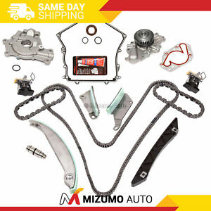 Timing Chain Kit Cover Gasket Water Pump Oil Pump Fit 09 10 Dodge Chrysler 2 7