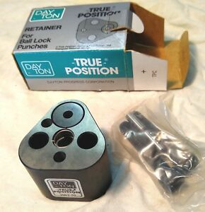 New 1 2 Hole Hrt 50 Dayton Ball Lock Retainer Punch Press Tooling Obi Stamping