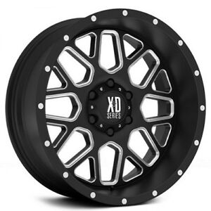 New 4 Off Road 18x9 Xd Wheels Xd820 Grenade Black Milled Rims