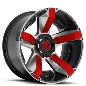 New 4 Off Road 18 Xd Wheels Xd811 Rockstar 2 Black Machined Rims