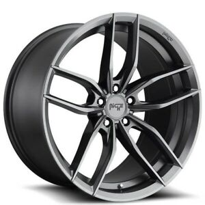 New4 Set 20 Staggered Niche Wheels M204 Vosso Gloss Anthracite Rims