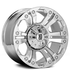 New 4 Off Road 18 Xd Wheels Xd778 Monster Chrome Rims