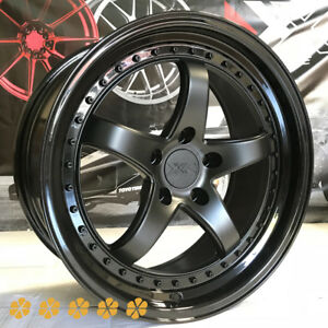Xxr 565 18x8 5 35 Flat Black Step Lip Rims Wheels 5x114 3 06 Acura Rsx Type S