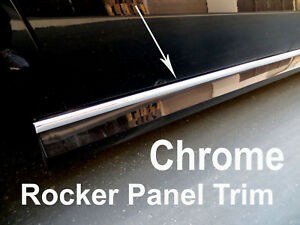 2005 2019 Chevy Chrome Side Rocker Panel Trim Molding Kit 2pc