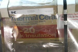 Thermal Ceramic R 20 Block Insulation 1 Thick 12 Wide By 36 14 Sheets