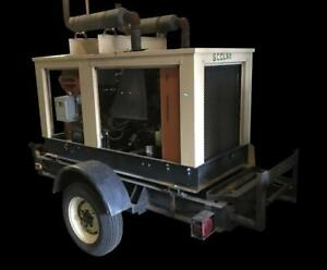 Generac Portable Trailer Mounted 36 Kw Gasoline Generator 214 Hours