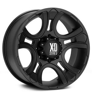 New 4 Off Road 18 Xd Wheels Xd801 Crank Matte Black Rims