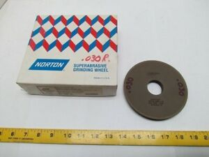Norton 3f1 5x1 2x 1 1 4 Cb120 wbb 1 8 Cbn Superabrasive Grinding Wheel 7260 Rpm