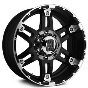 New 4 Off Road 18 Xd Wheels Xd797 Spy Black Machined Rims