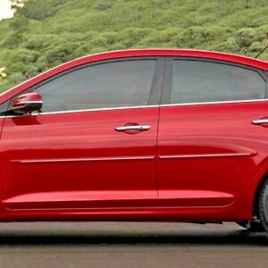 Painted Body Side Moldings With Chrome Trim Insert For Hyundai Accent 2018 2020