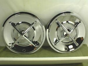 Four Bar Spinner Hubcaps Wheel Covers Flipper Hot Rod Custom Old School Rat