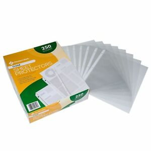 Members Mark Clear Poly Document Sheet Protectors 1000 Ct Use W 3 Ring Binders