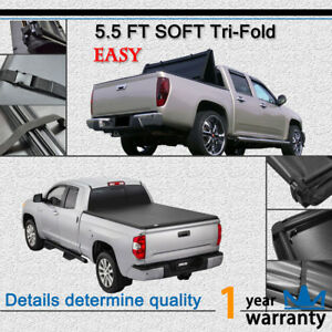 Tri fold Tonneau Cover Fit 14 18 Toyota Tundra 5 6 Fleetside Bed