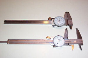 Set Of 2 Vintage Mitutoyo 6 Inch Dial Calipers