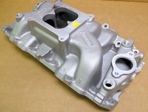 Summit Racing 226024 Stage 2 Intake Bbc Oval Dual Plane 4150 Carb Flange