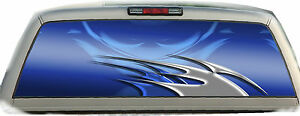 Flame Tribal Blue 01 Rear Window Vehicle Graphic Tint Truck Stickers Decals