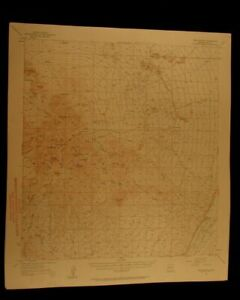 Twin Buttes Arizona 1961 Vintage Usgs Topographical Chart Map
