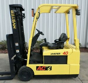 Hyster Model J40zt 2007 4000 Lbs Capacity Great 3 Wheel Electric Forklift