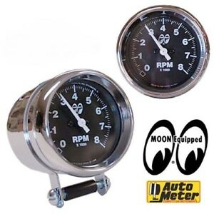 Moon 2 5 8 8k Tachometer Rat Hot Rod Gasser Nhra Scta Drag Racing Vtg Style Tach