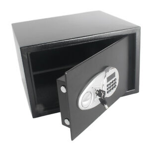 New Electronic Black Safe Box Digital Security Keypad Lock Office Home Hotel Top