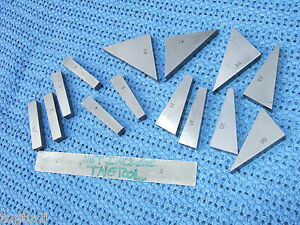 Angle Blocks 14 Flat Toolmaker Machinist Precise Grind Inspection Grind Mill Qa