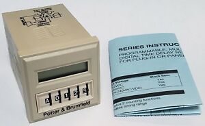 Potter Brumfield Time Delay Timing Relay Digital Multifunction Timer Cnt 35 26