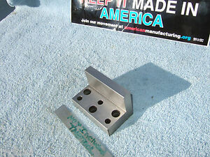 Angle Plate 3 Inch Usa Machinist Toolmaker Precise Grind Mill Inspect