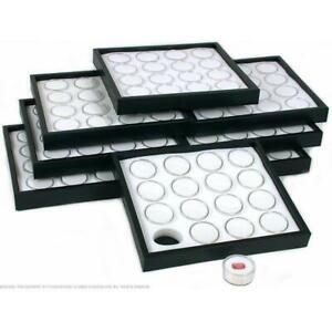 8 16 White Gem Jars Display Inserts Stackable Tray
