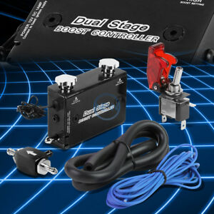 Aluminum Mt Dual Stage Turbo Electronic Boost Pressure Controller Switch Black