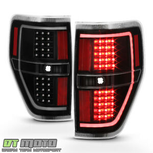 New Black 2009 2014 Ford F150 Led Light Tube Tail Lights Brake Lamps Left Right