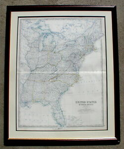 United States Of North America Eastern States Keith Johnston Map 1861