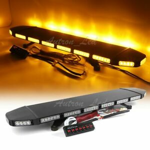 40 96 Led Amber Warn Traffic Adviser Emergency Response Beacon Strobe Light Bar