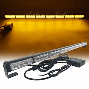 34 Inch Led Amber Emergency Traffic Adviser Directional Arrow Strobe Light Bar