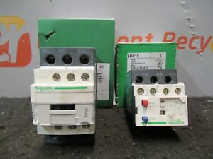 Schneider Electric Lc1d32b7 Lrd10 24v Contactor Non Reversing 4 6a Relay Lot