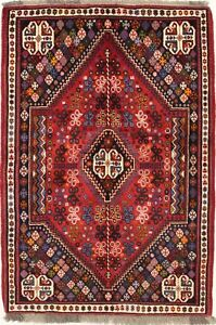 Gorgeous Handmade Tribal Design Vintage Persian Rug Oriental Area Carpet 4x6