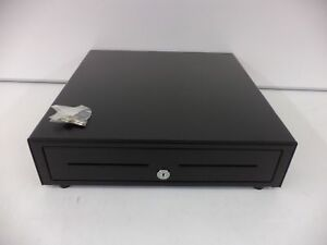 Apg Vb320 bl1616 Cash Drawer Vasario Drawer 16x16 Black 24v 5 Bill 5 Coin Till