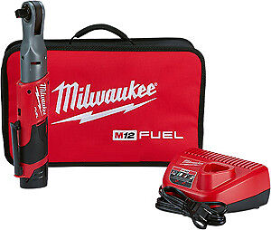 Milwaukee Electric Tool 2558 21 M12 1 2 Ratchet High Torque Kit New
