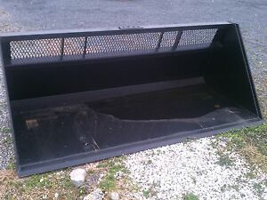 New 8 96 Skid Steer Loader High Capacity Window Snow Bucket litter mulch Case