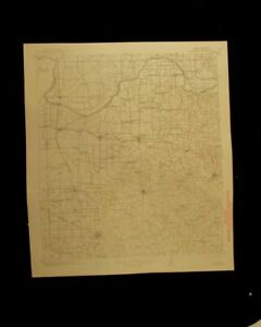 Montague Texas Oklahoma 1943 Vintage Usgs Topographical Chart Map
