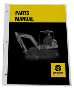 New Holland E30 Excavator Parts Catalog Manual Part 87360683na