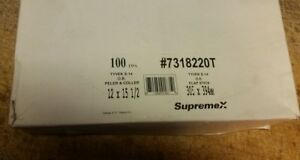 Supremex Tyvek S 14 Open End 12 X 15 1 2 Inch White Envelopes 100 Count Ch17 22