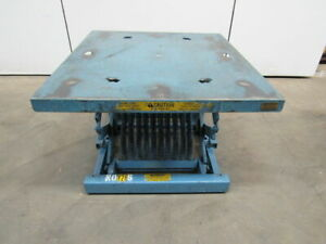 Year a round Corp 1500 Lb Spring Level Loader Palletpal Style Lift Table Lot 1