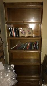 Antique Barrister Lawyers Bookcase 5 Stack Globe Wernicke Circa 1910